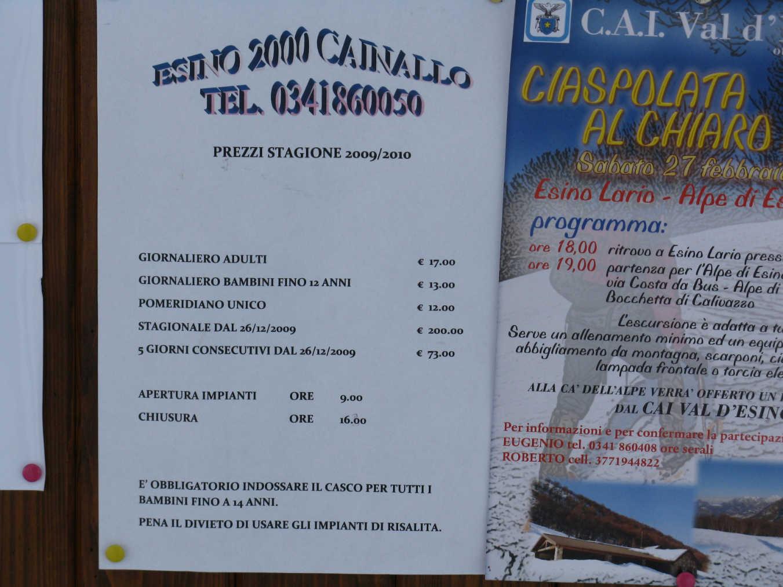 Fotogallery Cainallo - Esino Lario